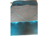 Teal king size bed throw from KHome BHS by Kelly Hoppen.