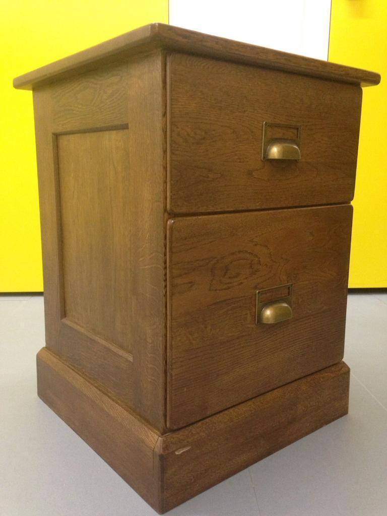 Laura Ashley Portobello Solid Oak Bedside Cabinet Sofa End