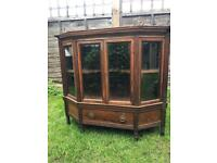 Antique Victorian Rosewood Glazed Sideboard