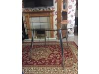 Glass top dinning table for 4