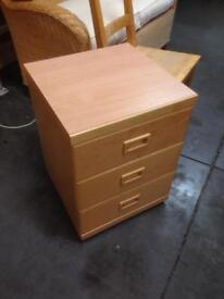 3 draw bed side table