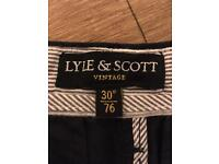 "Men's Lyle & Scott Vintage Navy Shorts 30"" Waist - Brand New, Without Tags"
