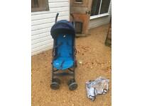 Joie blue stroller pram