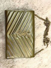 REDUCED YSL Yves Saint Laurent Monogram Chain Wallet Mint Condition (Pre-Loved)