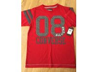 Boys, red, Converse t-shirt, age 10-11 yrs