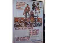 Large Film Posters - Framed - The Italian Job & The Good the Bad & the Ugly