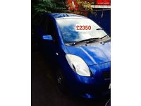 1.3 Toyota Yaris 2006, 5 door, Alloy Wheels, Service History, MOT, 3x Keys