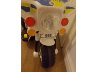Battery operated police bike