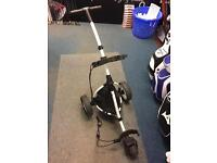 MOTOCADDY S1 LITE PUSH TROLLEY. MINT CONDITION WITH WHEEL COVERS