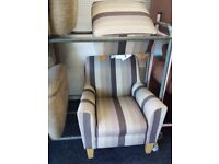 Next accent chair poufee set