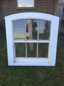 New Curved head timber sash window