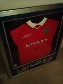 Paul Scholes Signed Framed Football Shirt *Brand New in packaging*