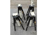 4 very heavy duty 10t axle stands