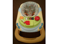 BABY WALKER WITH TRAY, GRACCO, ADJUSTABLE SEAT, MELODIES, LIGHTS AND TUNES