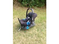 Britax Car Seat/Base & Mothercare Spin pushchair/pram with adaptors - travel system. Good condition.