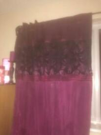 Purple curtains from next