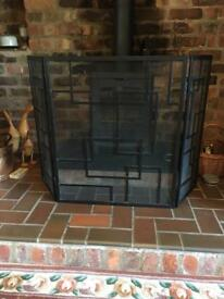 Fire guard black large size folding 80 tall