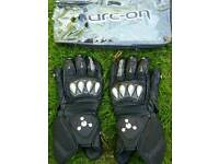 Arc-on competizione leather motorcycle gloves size large