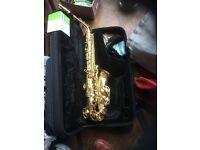 Jupiter saxophone case and accessories