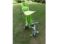 Fisher-Price Charisma Trike Green 3 in 1 for 10 months plus, children's baby - good used condition