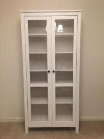 Ikea Hemnes Glass Door Book Display Cabinet Case