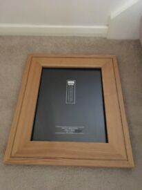 Pair of matching oak picture frames