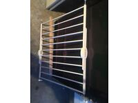 LINDAM STAIRS GATE, IN WHITE COLOUR, HARDLY BEEN USED, IN EXCELLENT CONDITION.