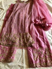 Indian suit- dusty pink