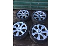 """Genuine BMW E46 Star Spoke 96 set of alloy wheels and tyres 17"""""""