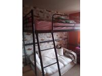 Single bunk bed ikea with mattress