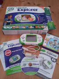 Leap Frog Leapster Explorer with camera attachment boxed Excellent Condition
