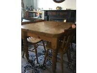 Solid Pine Table + 4 Chairs