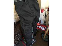 Motor bike jacket & trousers