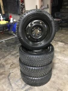 205 55R 16 CHAMPIRO ICE PRO GT RADIAL WINTER SNOW TIRES & RIMS 5X114.3 BOLT MAZDA NISSAN TOYOTA EXCELLENT CONDITION