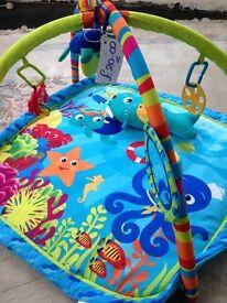 Aquarium baby play mat