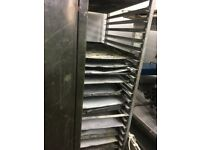 baking trolley with trays