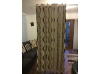FULLY LINED EYELET PAIR OF CURTAINS