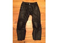 Motorcycle Leather Trousers / Jeans size 34-36in