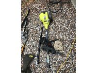 Ryobi Easy Start hedge trimmer, Strimmer,Chainsaw and extender pole