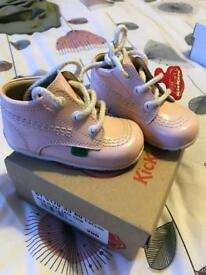 Baby Girls Pink Kicker Boots