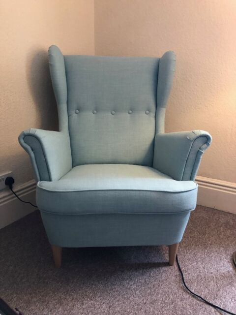 Ikea Strandmon Wing Chair Skiftebo Light Turquoise Perfect