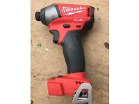 Milwalkee 18v impact driver .new unused