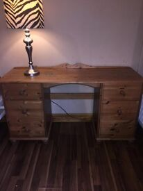 pine dressing table -6 drawers