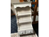 Shabby Chic Wooden Spice Rack 3 Rows and 2 Drawers