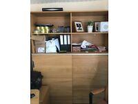 Ikea galant oak sliding door cupboard with lock