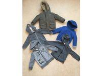 Boy clothes bundle 44 items age 2-3 coat, hoodies, short/long sleeve tops, shorts, PJ's etc