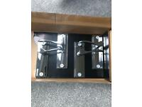 2 x pairs of Wickes Bravo polished chrome door handles