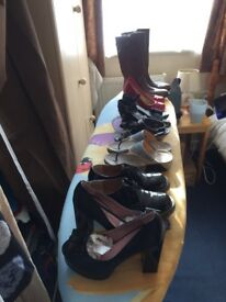 Assorted ladies size 3 footwear