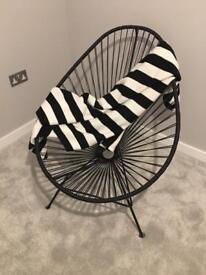 Acapulco low armchair by OK design pour sentou edition black