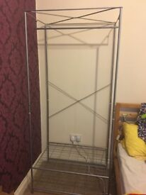 Silver Ikea Rail with shelf